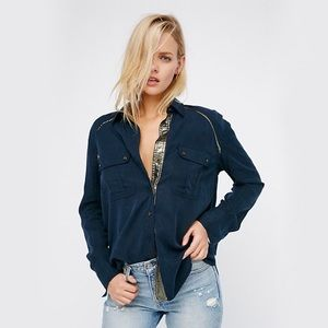 Free People Off Campus Buttondown